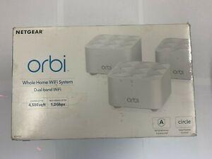 Netgear Orbi AC1200 Whole Home Mesh WiFi System Dual Band 3 Pack RBK13