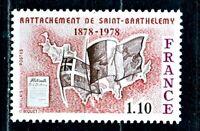 TIMBRE FRANCE  N° 1985   RATTACHEMENT DE SAINT BARTHELEMY  NEUF SANS CHARNIERE
