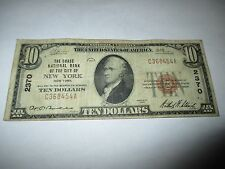 $10 1929 New York NY National Currency Bank Note Bill Ch. #2370 Fine Chase NB