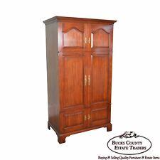 Henkel Harris Solid Cherry Large Media Armoire Cabinet