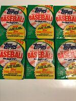 Six (6) Factory Sealed 1987  TOPPS Baseball Packs  FROM FRESH BOX