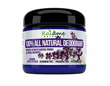 Kaiame Naturals Natural Deodorant (Lavender) with Activated Charcoal Powder