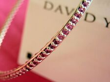 David Yurman Sterling Silver PINK SAPPHIRE All Around Bangle Bracelet Med $2,000