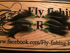 Cats Whisker Zonker Lure 6 Green And Black Trout Fly Lure Fly Fishing