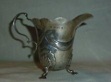 More details for antique solid silver cream jug by william aitken, assayed birmingham 1904