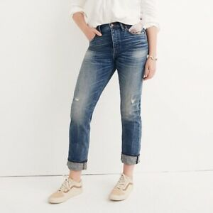 Madewell Cruiser Straight Jeans Selvedge Edition H8162  Cloverdale 28  31.5 x 28