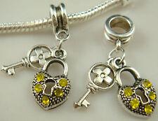 European Dual color Charms pendant Bead For s925 Bracelet Chain us free q4a