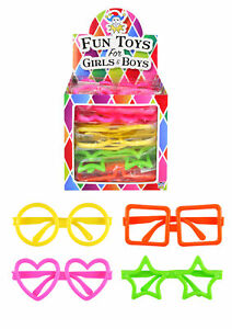 Assorted Shape Child Glasses - Pinata Toy Loot Party Bag Fillers 1 Pair