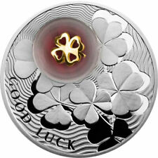 Four-Leaf Clover Lucky Coins II Proof Silver Coin 2$ Niue 2012