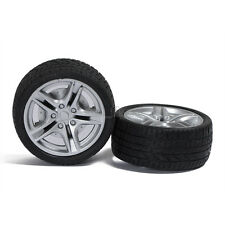 2pcs Rubber Tire Toy Wheels Model Robotic DIY Trucks 1:10 Scale 48*19*3mm