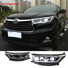 2Pcs For Toyota Highlander Headlights assembly 2014-2016 Lens Projector LED DRL