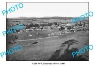 OLD LARGE PHOTO OF YASS NSW PANORAMIC VIEW c1880 1