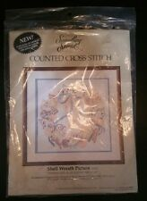 New Something Special Beach Shell Wreath Counted Cross Stitch Kit #50235 Ocean