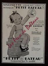 Publicité CULOTTE PETIT BATEAU MARINETTE DESSIN MALLET BEATRICE  1932 advert