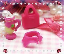 Authentic ORIGINAL Littlest Pet Shop LPS HTF RARE Pink SKIRT Accessories Lot