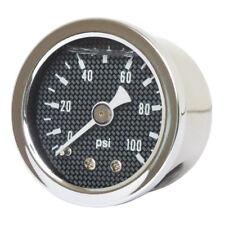 Marshall Öldruckmesser Öldruckanzeiger Carbon Face 100PSI für Harley - Davidson