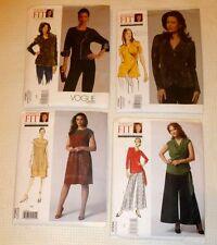 Vogue Pattern Lot of 4  Sandra Betzina Dress Pants Tops Vest  One Size