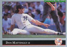 057   DON MATTINGLY    NEW YORK YANKEES  BASEBALL CARD LEAF 1992