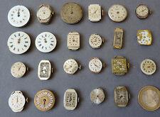 Lot de 23 mouvements de montre ancienne  mécanique RECORD, REGULA, KADIX