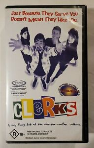 Clerks VHS 1994 Comedy Kevin Smith NewVision / 21st Century Pics (Non-Rental)