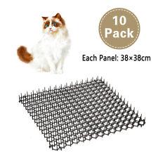 More details for 10 garden cat scat mats anti-cat prickle strips keep cat away safe plastic spike