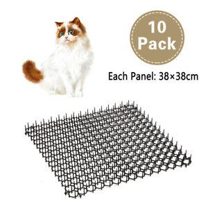 10 Garden Cat Scat Mats Anti-cat Prickle Strips Keep Cat Away Safe Plastic Spike