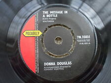 Donna Douglas  - The Message In A Bottle / If This Love - U.K 45