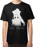 Just Monika Doki Doki T-Shirt Men's Black Size S - 3XL