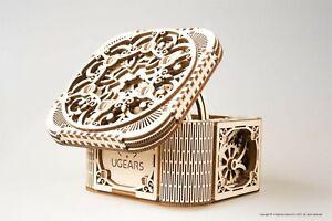 Mechanical UGEARS wooden 3D puzzle Model Treasure Box Construction Set