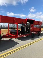 Brush burner M30F Trench Air Curtain Destructor Pit Burner For Rent / Debrie