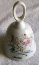 Hawaii Vintage Porcelain Bell With Beautiful Floral Design By Movie Supply Co.
