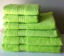 Luxury Striped 100 Egyptian Cotton Soft Absorbant Lime Green Bath Towel 600gsm