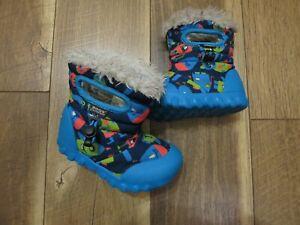 Bogs BMOC 721801 Toddler Boy's Blue/Multi-Color Monsters Boots Sz 7 EU 23
