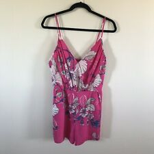 Yumi Kim Pink Romper Sleeveless Floral Spaghetti Strap Women Medium