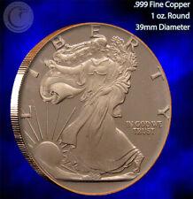 """""""Walking Liberty"""" 1 oz .999 Copper Round SilverTowne"""
