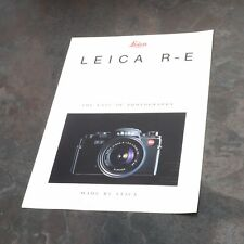 "* Leica R-E ""The Ease Of Photography"" Brochure 4 Available"