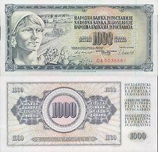 YUGOSLAVIA 1000 DINARA 1981  UNC (rif. 231)
