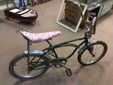 Vintage Schwinn Chicago Green Sting-Ray Bicycle HOT ROD PINK Banana Seat