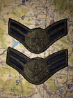 AIRMAN FIRST CLASS [E-3] / MALE - SUBDUED RANK SET (Sew-On) Merrowed Edge