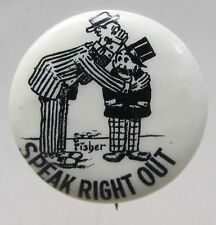 1910 Bud Fisher MUTT & JEFF Speak Right Out Hassan Cigarettes pinback button