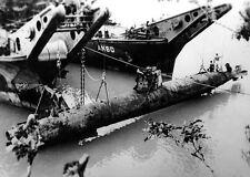 WWII B&W Photo Japanese Midget Submarine  WW2 World War Two Japanese Navy / 7035