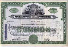 Sunray Oil Corporation Stock Certificate Gas