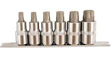 Laser Tool Torx Plus Socket Set Star 6 Point Sockets T45 > T80 1/2 Dr