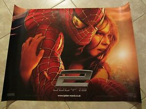Spiderman 2 movie poster Tobey Maguire, Kirsten Dunst - 12 x 16 inches