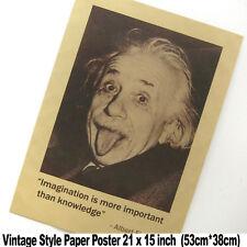 XXL Vintage Wall Albert Einstein Motivational Slogan Paper Poster 28 x 15 Inchs