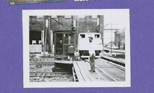 African American Man at LIRR Morris Park Shops - Vintage Railroad Photo