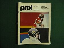 1973 SD Chargers vs Washington Redskins game program Sept 16 '73 Fouts' 1st GAME