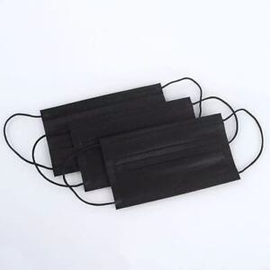 [KIDS] 50 Pcs Disposable Face Mask 3-Ply Non-Medical Children Mouth Cover Black