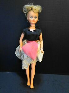 "Kaysam 1961 Jolly Toys 16"" Blond Doll Party Dress No Shoes"