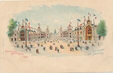 1900 Paris Exposition Esplanade des Invalides Advertising Postcard – udb